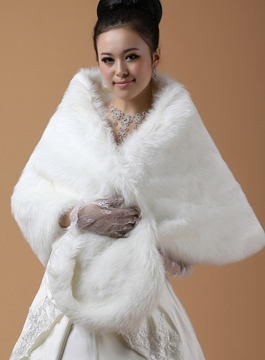 Ericdress Sleeveless Faux Fur Wedding Jacket