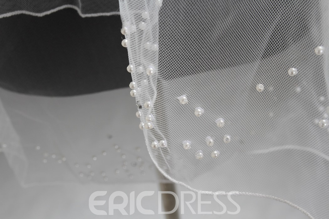 Ericdress Beautiful Double Layers Beading Bridal Veil