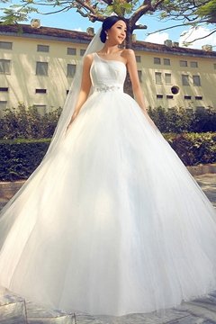 Excellent Ball Gown Floor-Length One-shoulder Wedding Dress