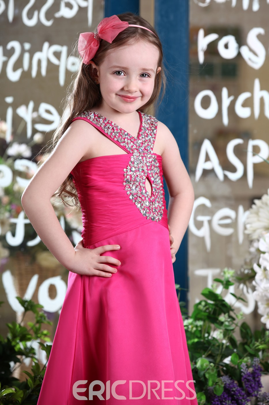 Amazing Halter A-line Floor-length Beaded Flower Girl Dress