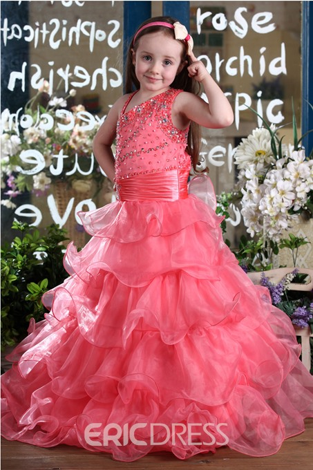Fashion A-Line Straps Floor-length Flower Girl Dress