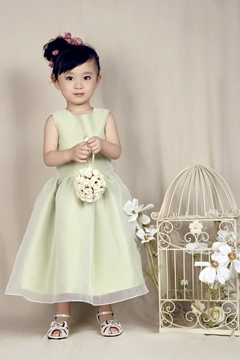Lovely A-line Jewel Ankle-length Flower Girl Dress
