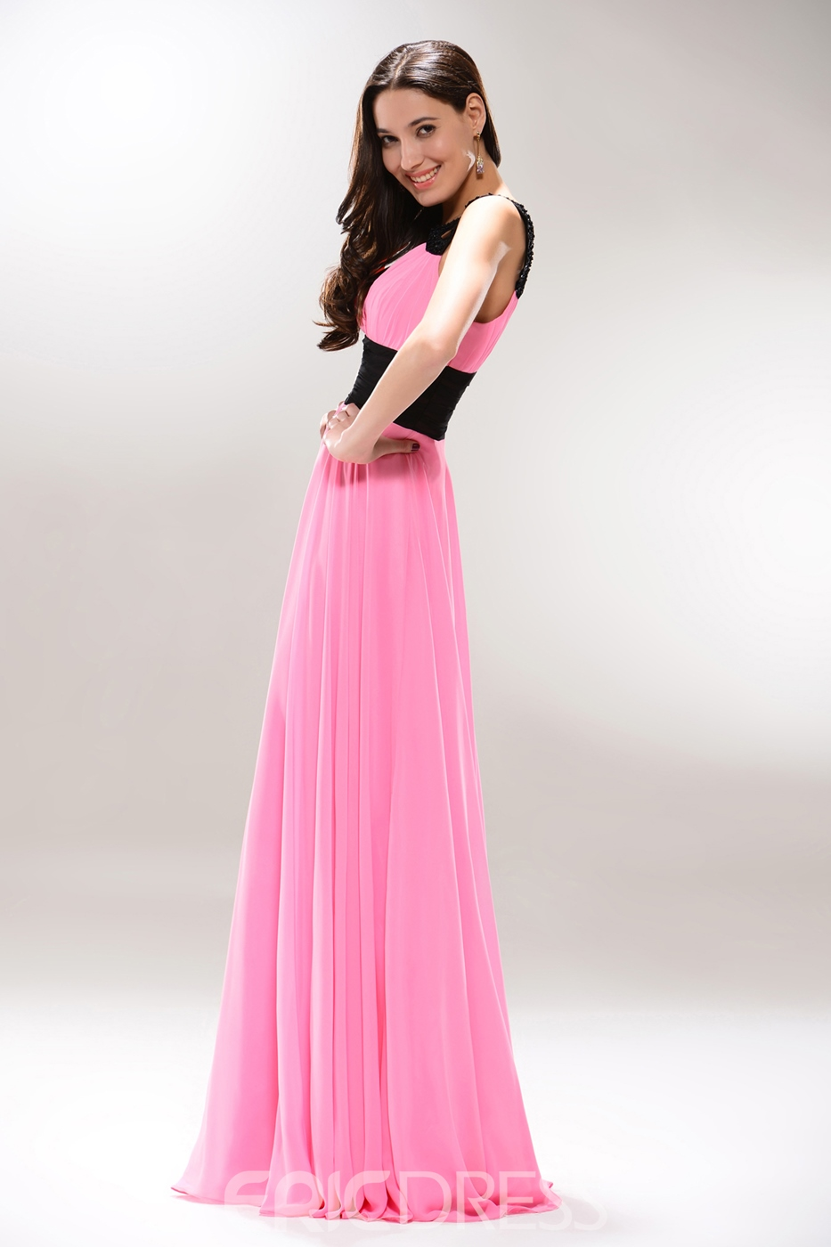Sexy Spaghetti Neckline Floor-Length Prom Dress