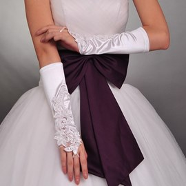 Lace Transparent Fingerless Wedding Bridal Glove