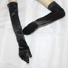 Long Black Bridal Gloves
