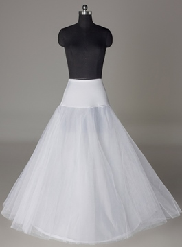 Fancy A-line One-steel Ring Two Layers Wedding Petticoat