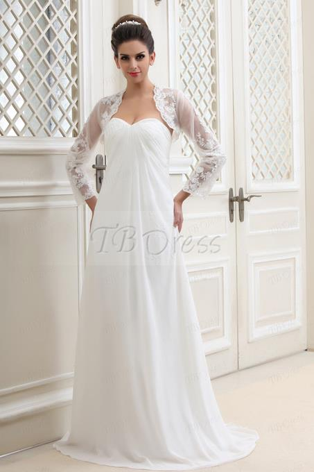 Ericdress Long Sleeve Tulle Wedding Jacket