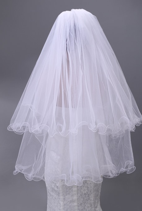 Charming Two Layers Elbow Wedding Brail Veil