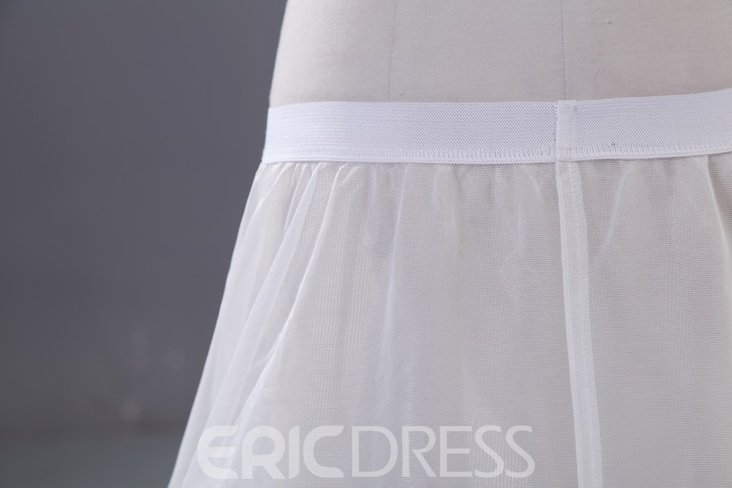 Simple Three Steel Layers Wedding Petticoat