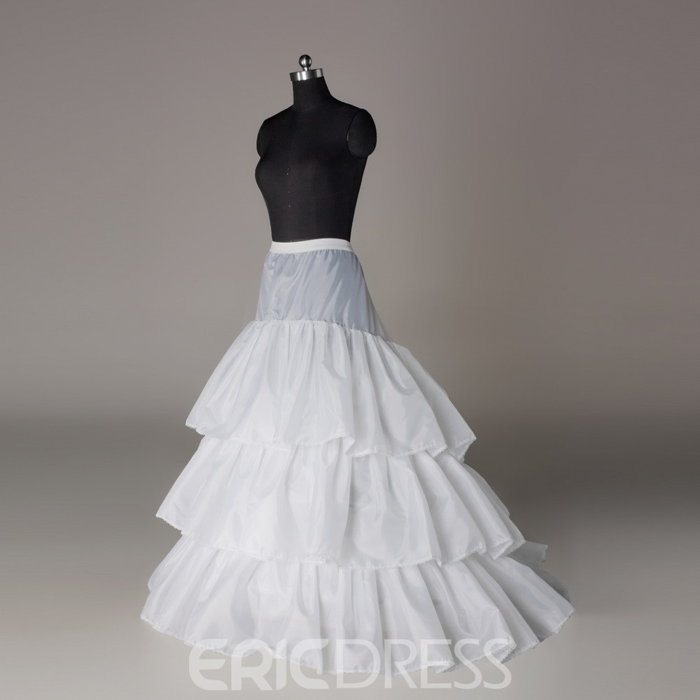 Pretty Court Train Three Layers Three Steel Rings Wedding Petticoat