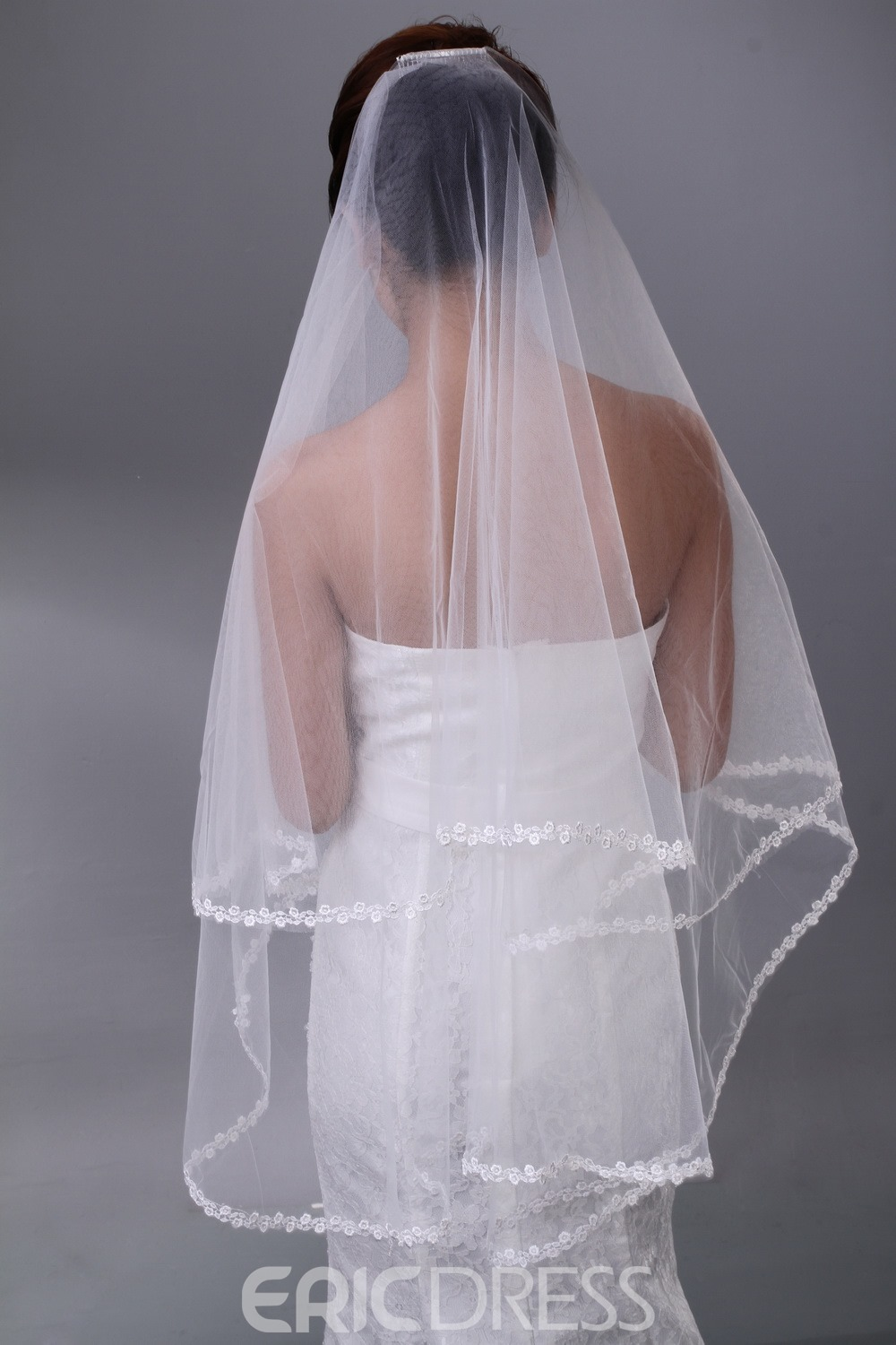 Gorgeous Fingertip Tulle Single Layer Wedding Bridal Veil