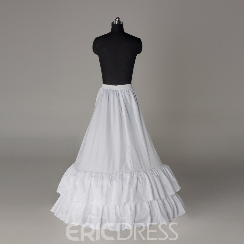 Flounced A-line Two Layers Two Steel Rings Wedding Petticoat