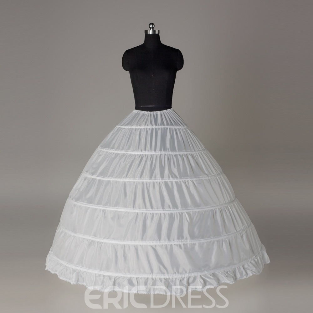 Luxurious Ball Gown Six Steel Rings Wedding Petticoat