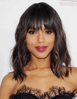 Ericdress Kerry Washington Medium Loose Wavy Wigs Human Hair 14 Inches