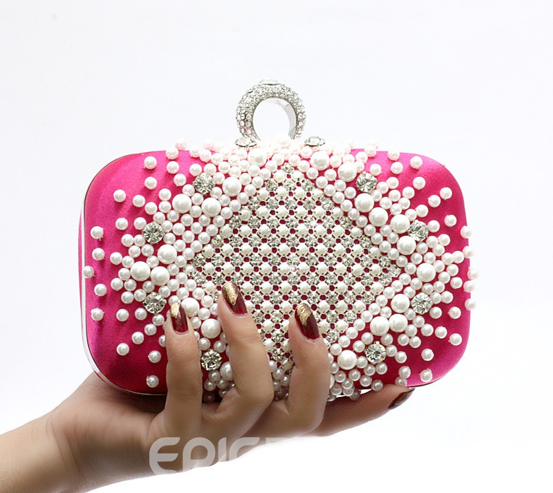 Sweet Big Satin Handbag for Evening/Wedding(5colors)