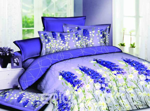 charming dark royal blue and white 4 piece cotton bedding sets
