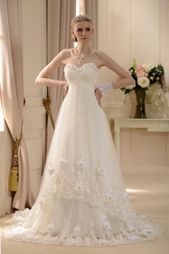 Amazing Empire Sweetheart Floor-length Court Wedding Dress