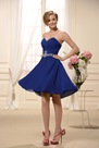 Mini-Length Sweetheart-Neckline Short Bridesmaid Dress