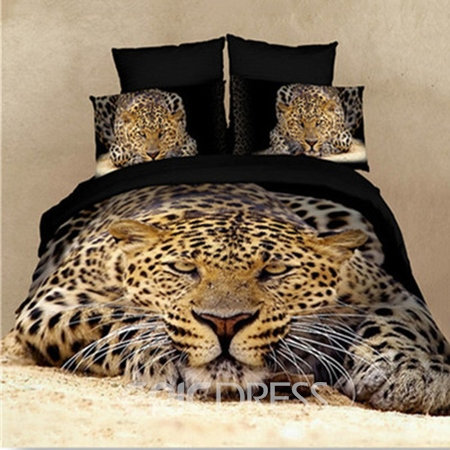 High Quality Strong and Smart King in the Jungle 4-Piece Bedding Sets 10570435