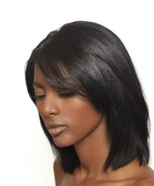 Ericdress Medium Straight Human Hair Lace Front Wigs 12 Inches