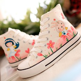 Cute Hand-made Canvas With Flowers Print