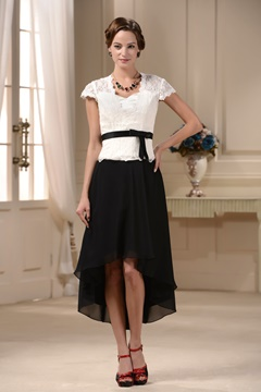 Sheath Jewel Natural Waist Cap Sleeves Knee-Length Mother of The Bride Dress