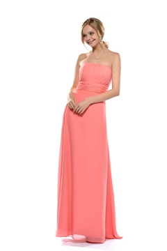 Fashionable Draped Sheath/Column Strapless Floor-length Bridesmaid Dress