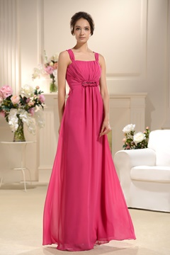 Sexy Empire Waist V-Neck Long Bridesmaid Dress