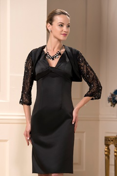 Incredible Sheath/Column V-Neck Knee-Length Mother of the Bride Dress