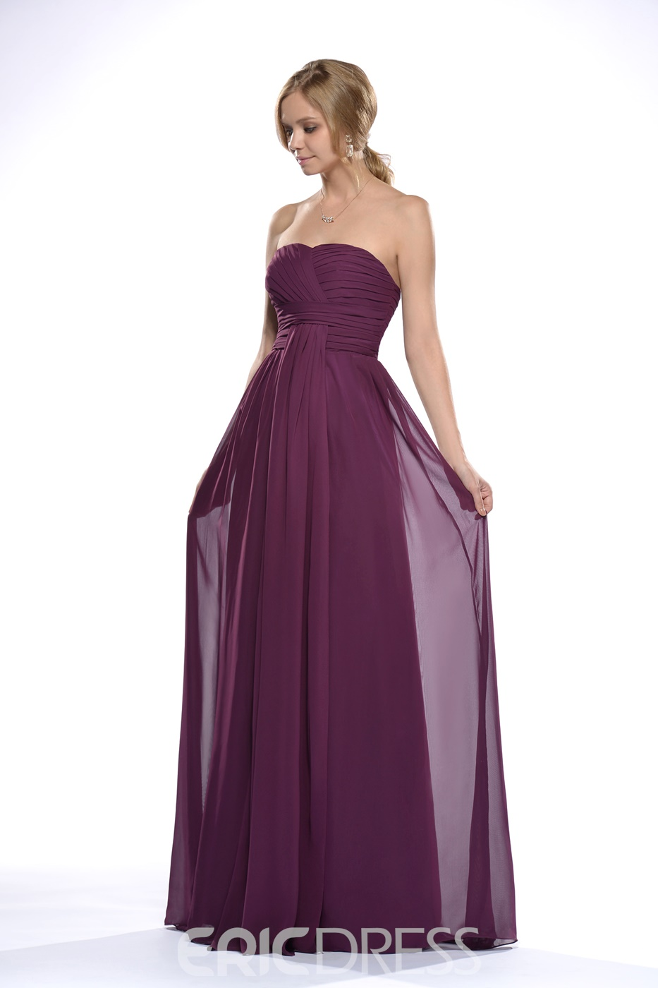 Marvelous Ruched Empire Waist Floor-Length Bridesmaid Dress