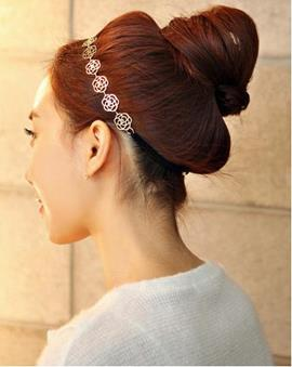 Lovely Hollow Rose Hair Band