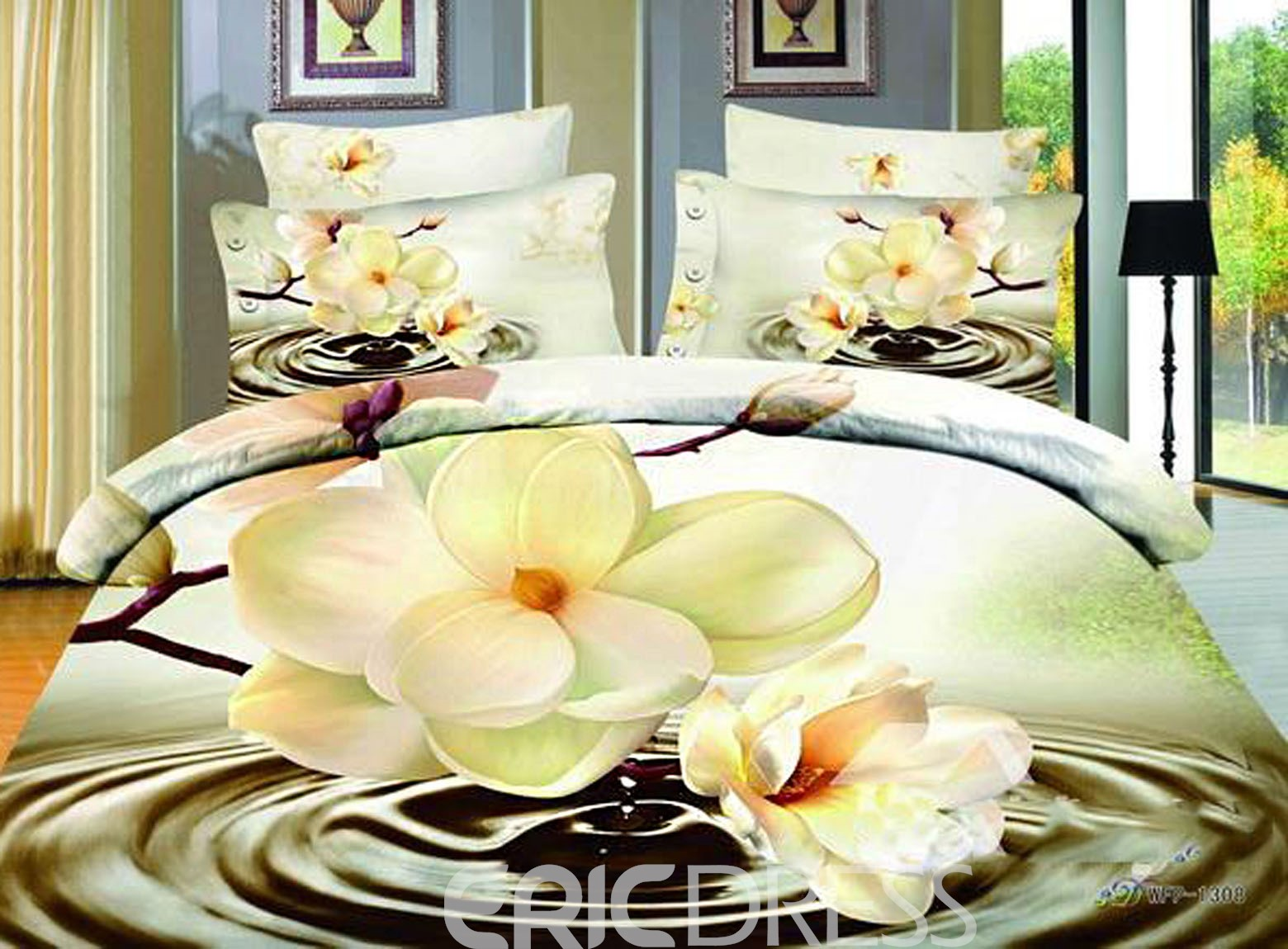 Hot Sell Beauty Flower From The Water 4 Pieces Bedding Sets 10683822