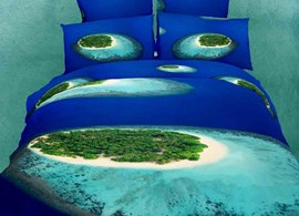 Amazing Tropical Islands beach 4 Piece Bedding Sets/Duvet Cover Sets