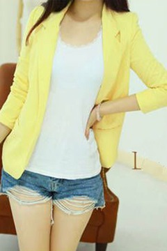 Ericdress Candy Color Blazer