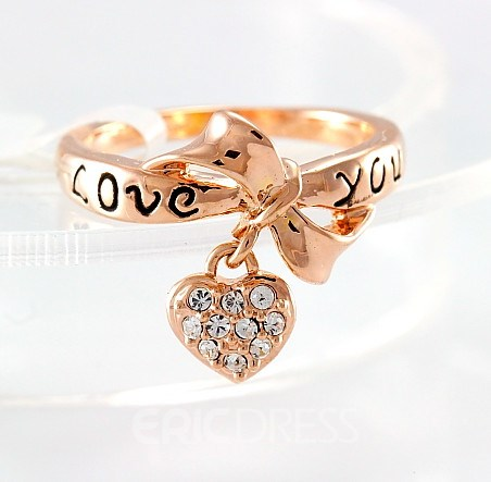 LOVE YOU Golden Bowkont Special Ring
