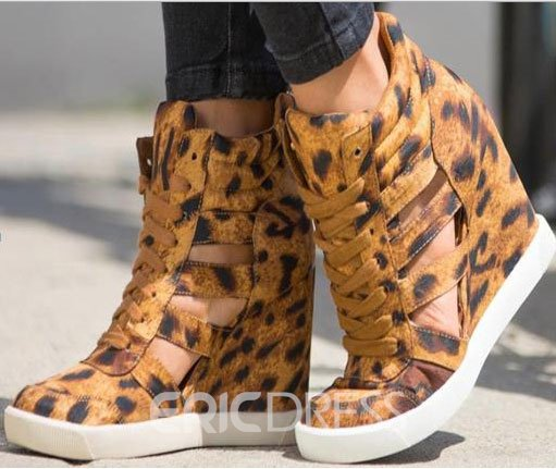 Sexy & Comfortable Leopard Wedge Heels