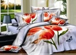 Flamboyant Tulip and Butterfly 4 Piece Cotton Bedding Sets