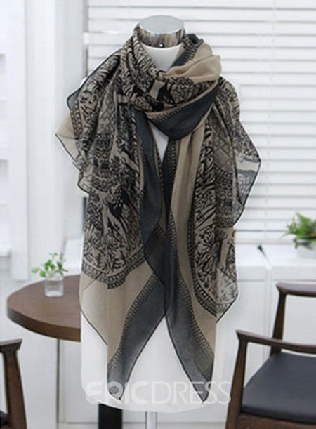 Ericdress Printed Cotton Scarf