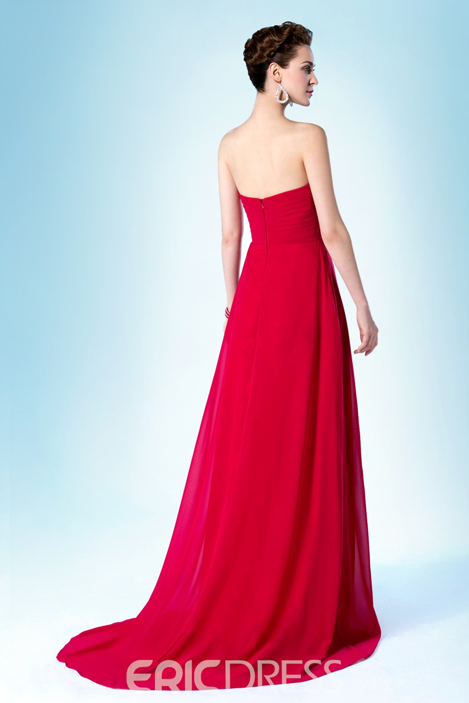 Concise Pretty Strapless Sweetheart Neckline Sweep/Brush Bridesmaid Dress