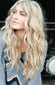Ericdress Long Wavy Blonde Front Lace Cheap Wigs 22 Inches