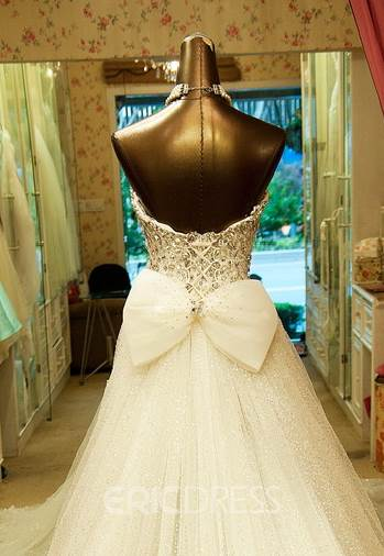 Ericdress Sweetheart Sheath Beaded Wedding Dress