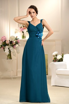 Charming Sheath/Column V-neck Sleeveless Floor-Length Bridesmaid Dress