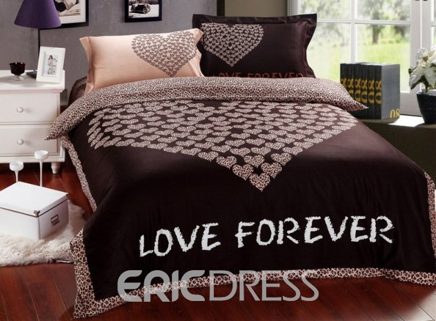 Love Forever Chocolate Heart 100% Cotton Bedding Sets 10831819