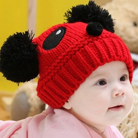 Ericdress Panda Shaped Kids Knitted Hat