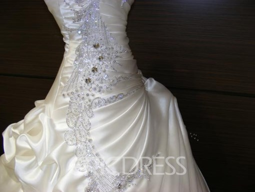 Ericdress Beading Pick-Ups Ball Gown Wedding Dress