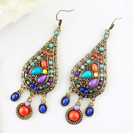 Ericdress Color Block Bohemian Style Earrings