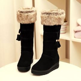 Winter-Sweet Wildleder Quasten Winterstiefel