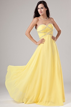 Stunning A-line Sweetheart Beading Prom Dress