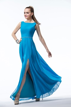 Unexceptionable Sashes/Ribbons Floor-Length Bridesmaid Dress