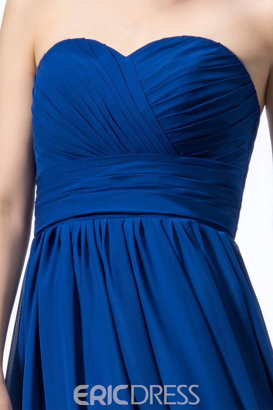 Modern A-line Sleeveless Sweetheart Chiffon Bridesmaid Dress